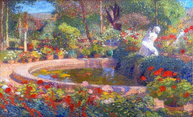 , 'Le Bassin Principal du Parc de Marquayrol plain ete,' ca. 1910, Anderson Galleries