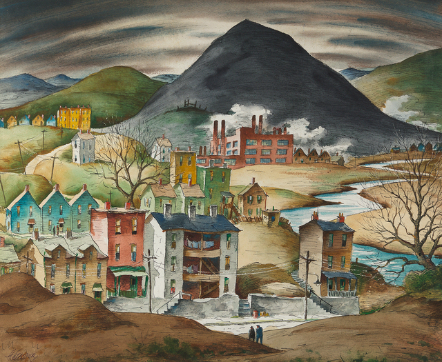 , 'Industrial Town,' , Questroyal Fine Art