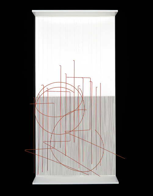 , 'Escriture Verticale Orange,' 1989, Sicardi Gallery