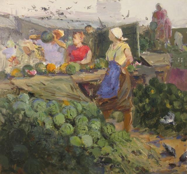 Aleksandr Nikiforovich Chervonenko, 'Watermelon season', 1970, Surikov Foundation