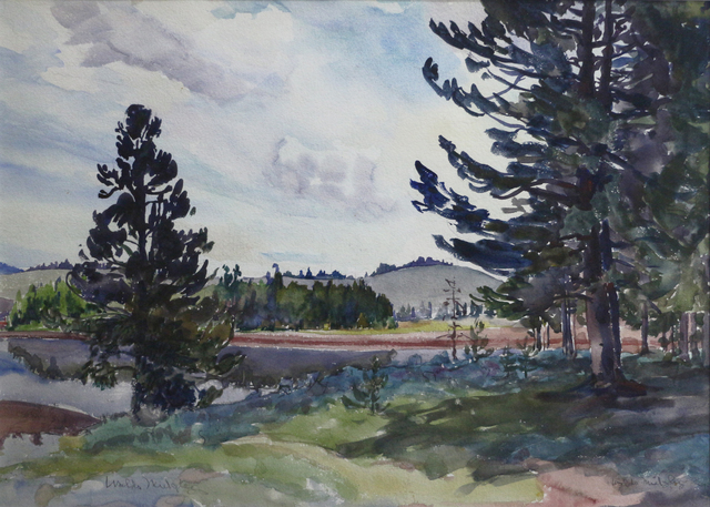 Waldo Park Midgley, 'Hebgen Lake - Montana', ca. 1927, Phillips Gallery