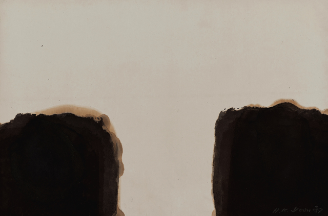 Yun Hyong-keun, 'Umber-Blue 87 #39', 1987, Wellside Gallery