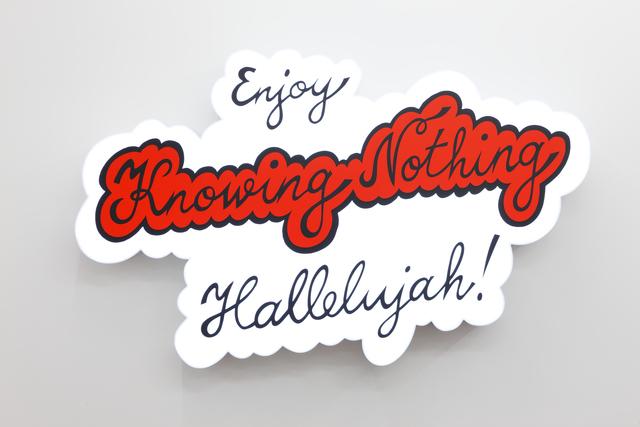 , 'Enjoy Knowing Nothing,' 2017, Temnikova & Kasela