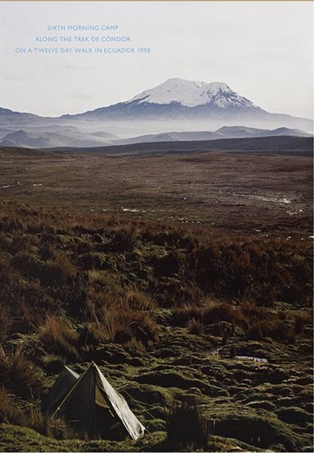 Richard Long, 'Sixth morning camp along the trek de condor on a twelve day walk in Ecuador', 1998, Artsnap