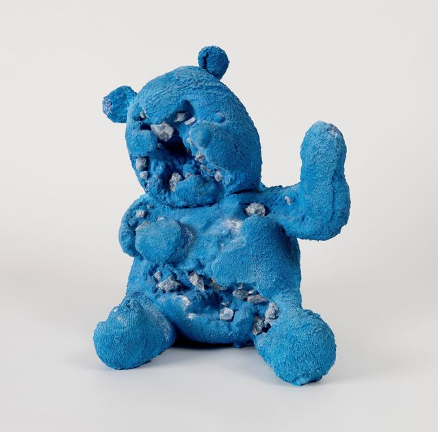 , 'Blue Calcite Eroded Bear,' 2017, Perrotin