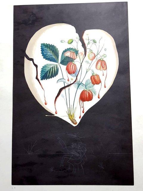 """Salvador Dalí, 'Original Lithograph """"Flordali -Strawberry Heart"""" by Salvador Dali', 1969, Galerie Philia"""