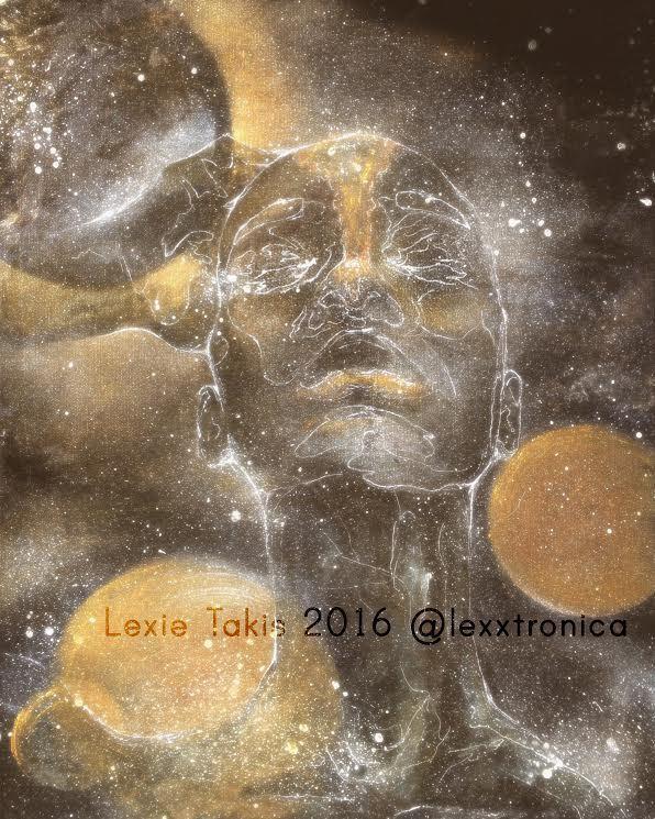 """Astral Babe"" by Lexie Taxis, acrylic & oil on canvas"