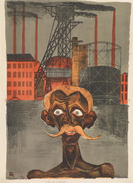 , 'KOHLENBERGARBEITER,' 1920, Jörg Maass Kunsthandel