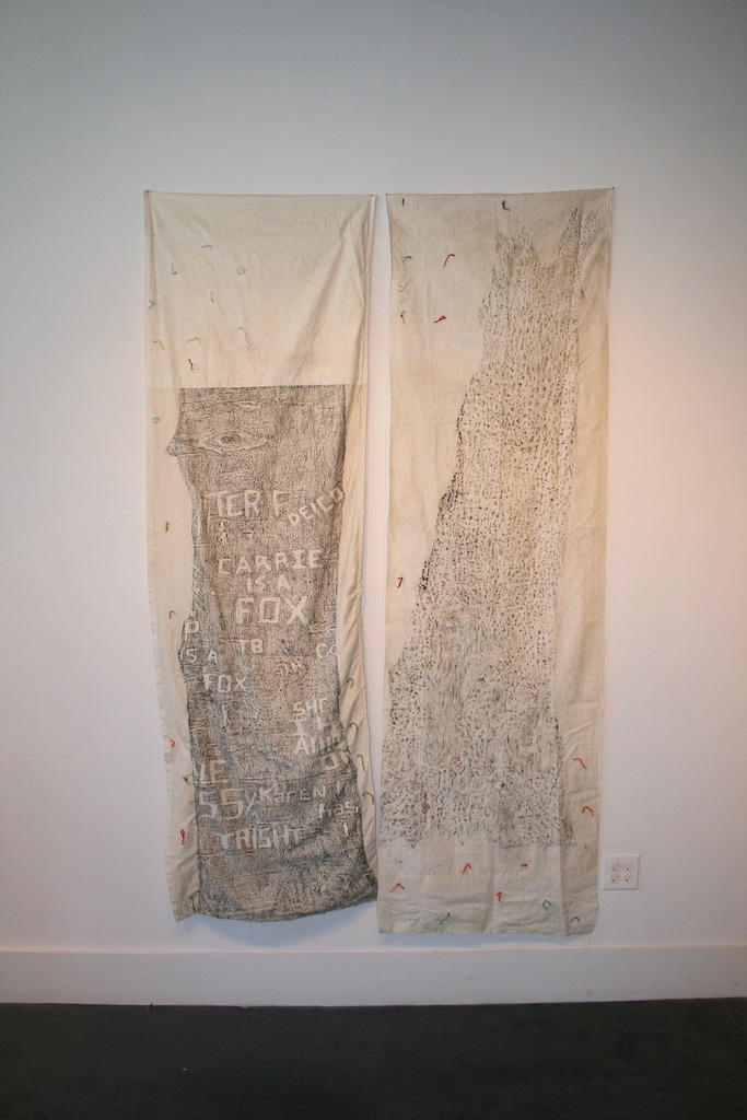 """Katie Pell """"The Woods Series,"""" textiles"""