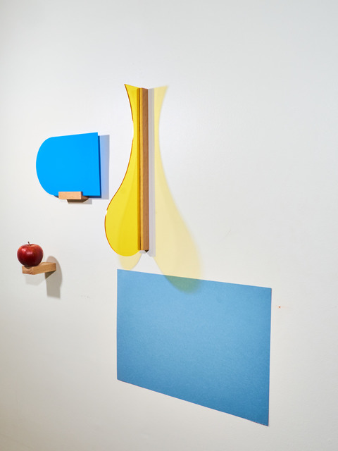 , 'a prayer with blue arch (yellow, blue, red),' 2017, BERG Contemporary