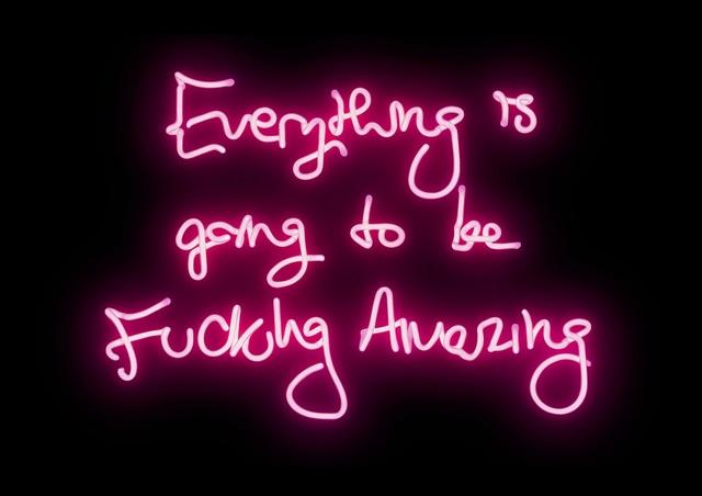 Lauren Baker, 'Fucking Amazing (black)', 2016, Mixed Media, Pink neon, plexiglas and aluminium box tray, Laurent Marthaler Contemporary