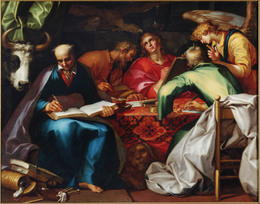 Abraham Bloemaert, 'The Four Evangelists', ca. 1612–15, Painting, Oil on Canvas, Princeton University Art Museum