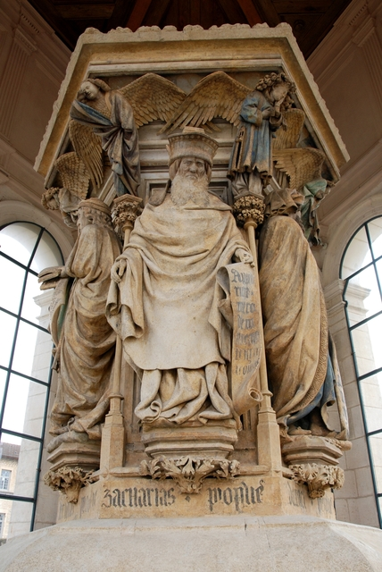 Claus Sluter, 'The Well of Moses', 1395-1406, Sculpture, Limestone with traces of paint, Art History 101