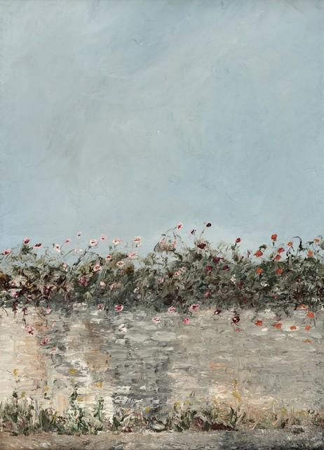 August Strindberg, 'Flowering Wall', ca. 1901-1903, Painting, Oil on canvas, Åmells