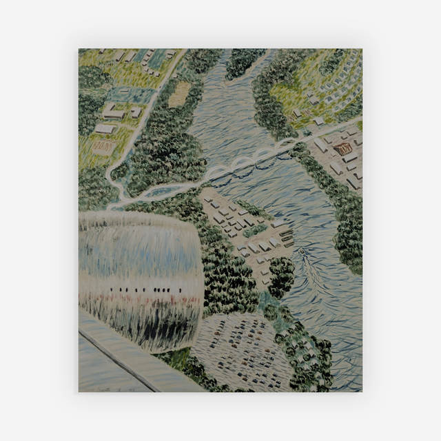 Yvonne Jacquette, 'Aerial View of 33rd St. IV', 1990, Print, Watercolor and lithograph, Capsule Gallery Auction