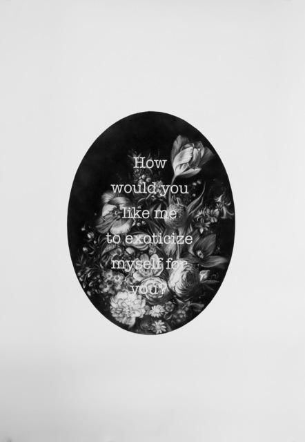 Gonzalo Fuenmayor, 'How would you like me to exoticize myself for you? II', 2017, Fernando Pradilla/El Museo