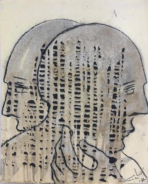Mahi Binebine, 'Untitled', 2017, Drawing, Collage or other Work on Paper, Katharina Maria Raab