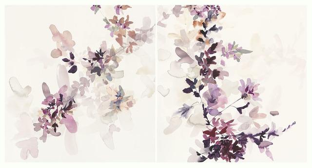 , 'Wildflower Study Lilac and Smoke 1,' 2018, Wally Workman Gallery