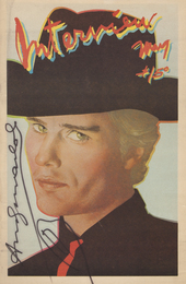 A vintage edition of Andy Warhol's Interview magazine (Vol. IX No. 5, 1979)