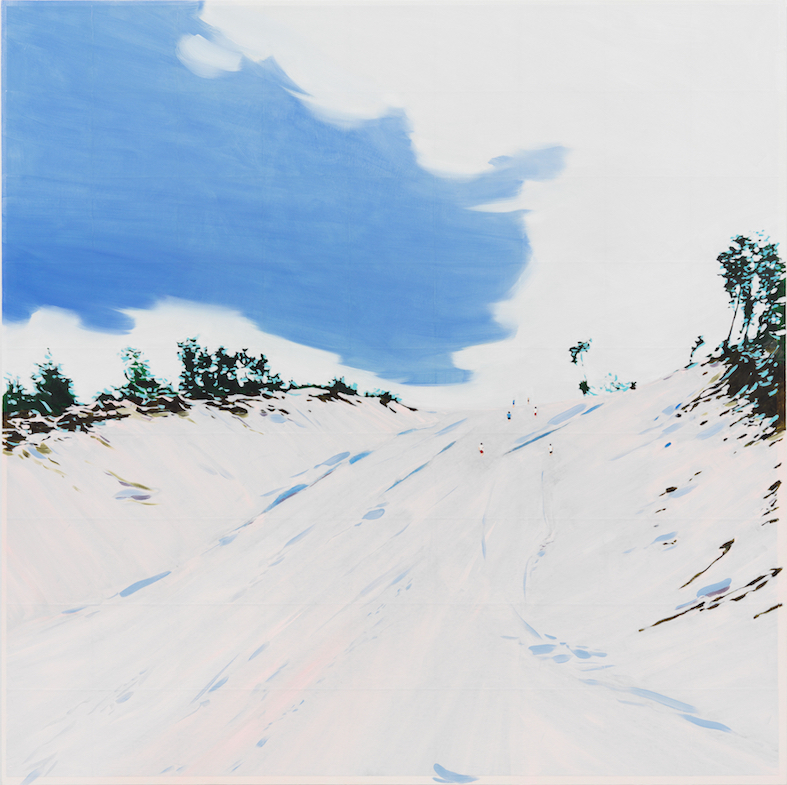 Isca Greenfield-Sanders, Sand Hill, 2019, Mixed Media and Oil on Canvas, 160 x 160 cm
