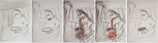 Ramin Haerizadeh, Rokni Haerizadeh & Hesam Rahmanian, 'RUMINATION AFTER Gertrude-Quastler (Ramin Haerizadeh)', 2018, Galerie Krinzinger
