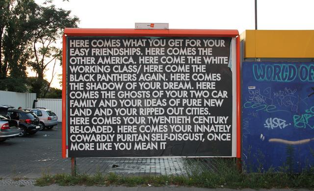 Robert Montgomery, 'Berlin Billboard', 2011, Mannerheim Gallery