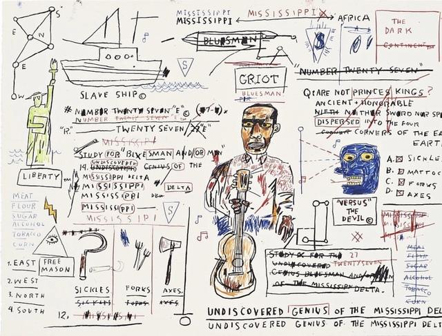 Jean-Michel Basquiat, 'Undiscovered Genius', 1982-1983/2019 , John Wolf Art Advisory & Brokerage
