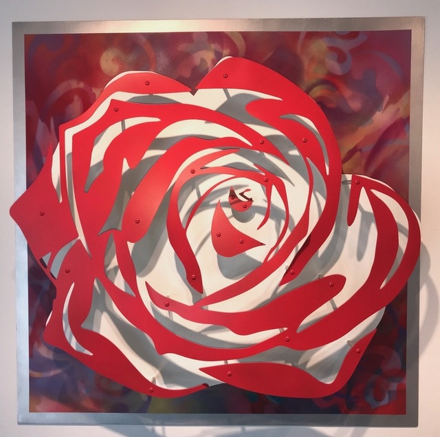 , 'Rose - Red on Multicolor ,' , FP Contemporary