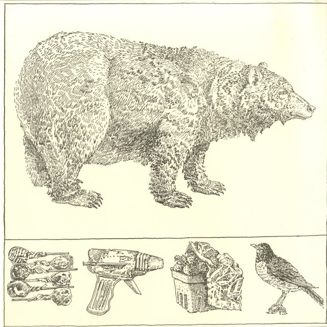 Don Nice, 'BEAR WITH PREDELLA (from Rubber Stamp Portfolio)', 1976, Alpha 137 Gallery
