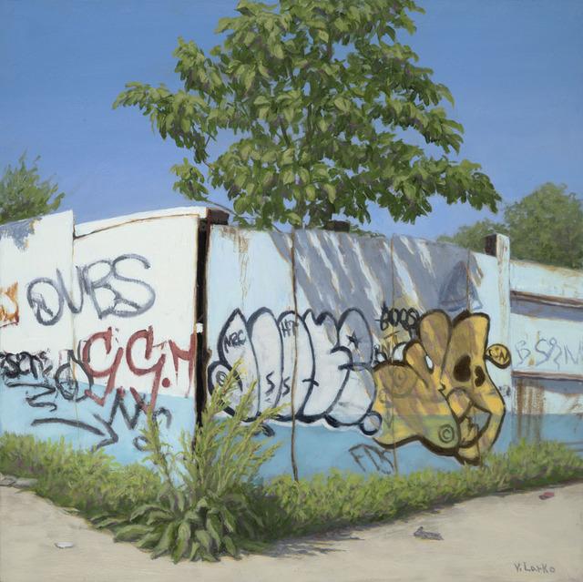 , 'Blue Fence, Bronx,' 2011, Lyons Wier Gallery