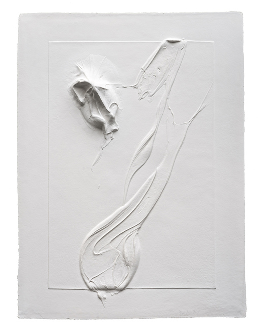, 'Untitled White,' 2014, Mixografia