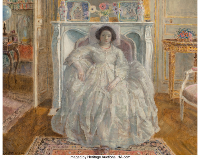 Frederick Carl Frieseke, 'The White Gown', 1923, Heritage Auctions
