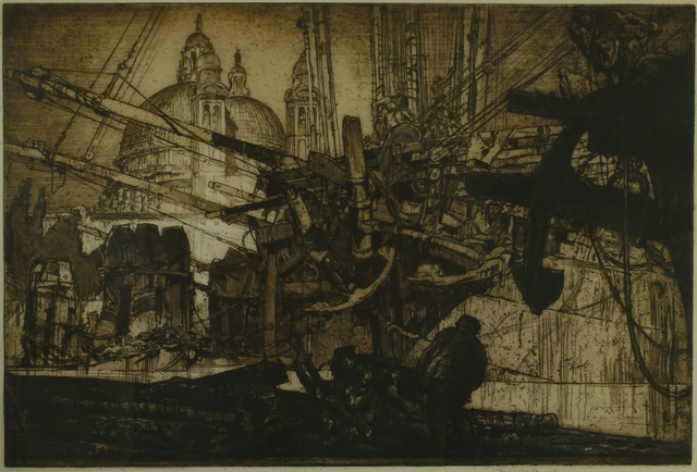 Sir Frank Brangwyn, 'Santa Maria dells Salute (Through the Rigging), Venice', 1908, Private Collection, NY