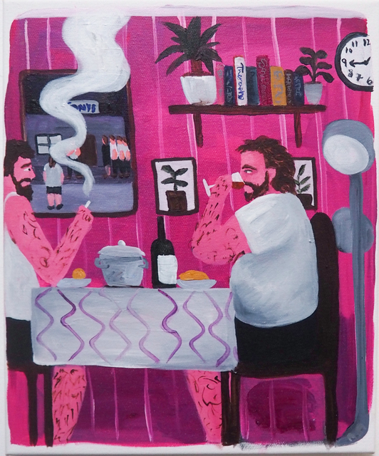 , 'Pink Lunch,' 2018, Kristin Hjellegjerde Gallery