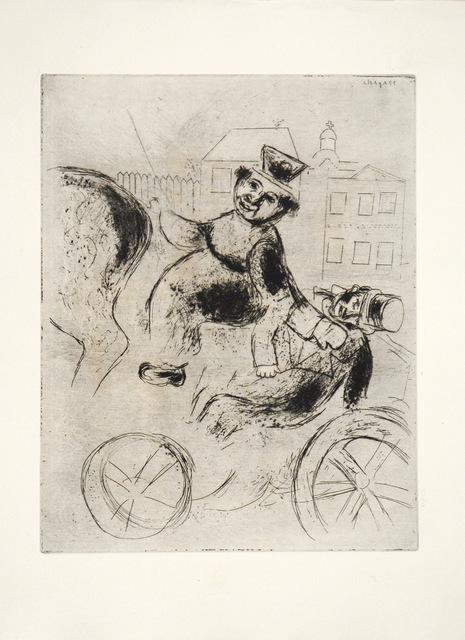 Marc Chagall, 'Pavel Ivanovitch est Ramené à L'Auberge', 1948, Print, Etching, Goldmark Gallery