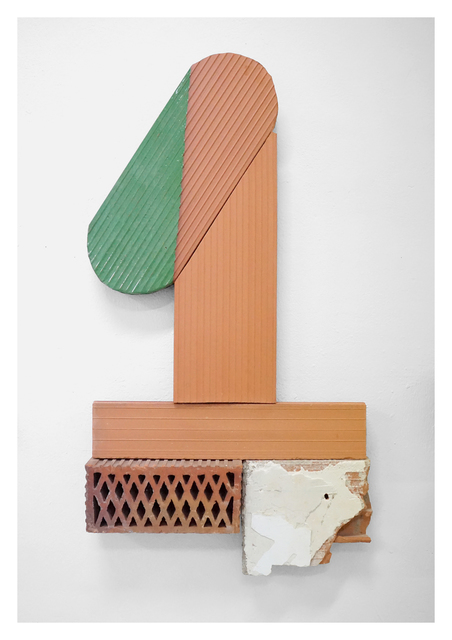 Oscar Abraham Pabon, 'Arte y Artesanía II', 2019, Sculpture, Green Ceramic 2011 a 1010 oC. 4 red clay bricks with ceramic enamel, Baró Galeria