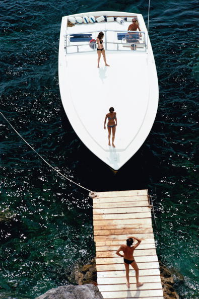 Slim Aarons, 'Speedboat Landing', 1973, Staley-Wise Gallery
