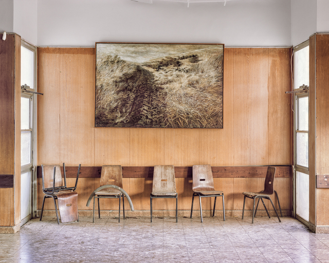 , 'Landscape Painting On Wall, Dining Hall, Kibbutz Yiftach,' 2015, PHOTO IS:RAEL