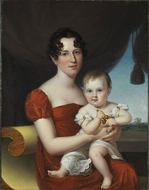 , 'Portrait of Mrs. Nathaniel Waples (1796-1819) and Her Daughter, Sarah Ann (1816-1850),' 1817, Philadelphia Museum of Art