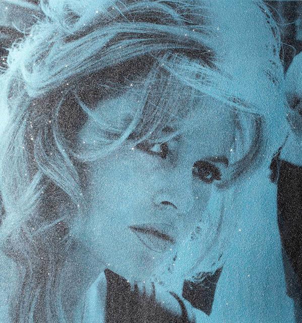 David Studwell, 'Brigitte Bardot, Powder Blue', 2017-2019, Print, Screen print with hand embellished diamond dust, Tanya Baxter Contemporary