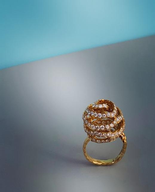 , 'Yellow Gold and Diamond 'Orange Peel' Ring,' 2005, Grima