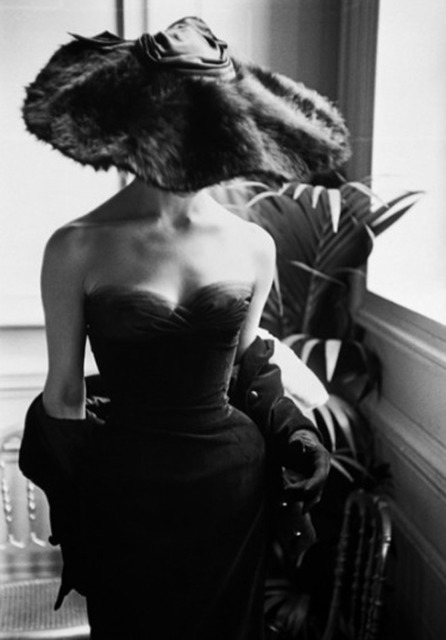 Mark Shaw, 'Dior Gown with Fur Hat, Paris', 1954, Jackson Fine Art