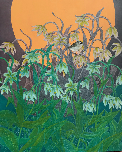, 'Golden-Crowned Kinglet in Fritillary,' 2018, MiXX projects + atelier