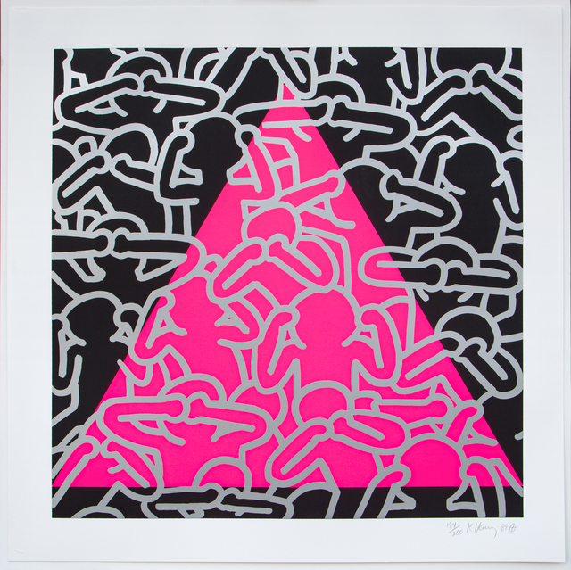 Keith Haring, 'Silence = Death', 1989, Print, Ink, paper, Artificial Gallery