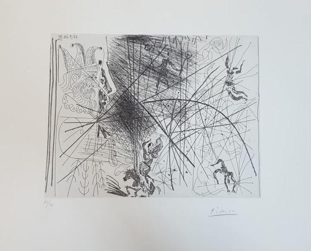 Pablo Picasso, 'Vieux Bouffon Contemplant des Acrobates I', 1968, Baterbys
