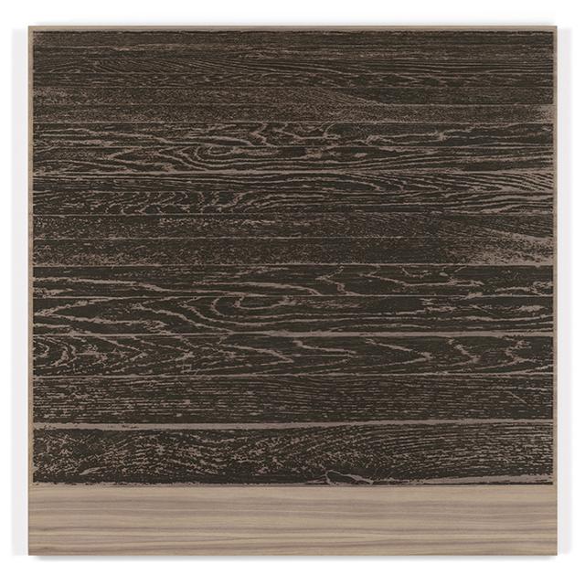 , ' Wooden Floor on Wood (Horizontal),' 2017, Gemini G.E.L. at Joni Moisant Weyl