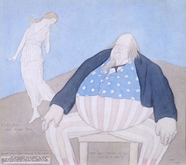 , 'Civilisation and Uncle Sam,' 1928, Crane Kalman Gallery