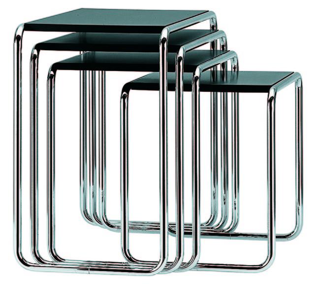 ", 'Set side tables ""B9"",' 1925, MAKK – Museum für Angewandte Kunst Köln"