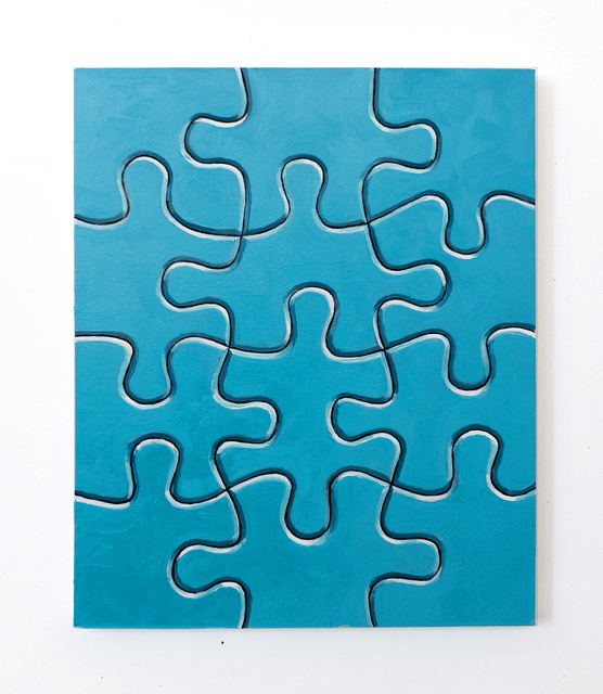 , 'Untitled (blue puzzle),' 2016, The Schoolhouse Gallery