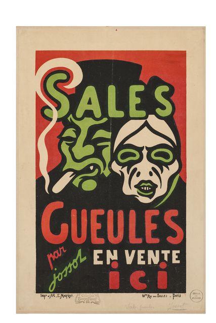 , 'Sales Gueules,' 1896, Les Arts Décoratifs